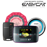 Alarma Auto Cu Start Buton Si Pornire Motor Din Telecomanda Easycar E7-B Push Button Start And Stop System